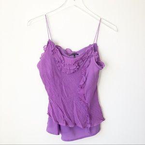 🌸 Daisy Fuentes | Purple ruffle tank top